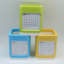 2017 Creative Office Organizer Cosmetic Pencil Pen Holders Stationery Pen Container Storage Boxes Desk Calendar Desk Calendar