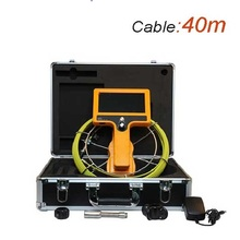 40m Cable Drain and Pipe Inspection Camera 12 LEDs Camaer OD23mm Sewer Underwater Video Camera 7 Inch LCD Monitor WPS710-SCJ-40(China)