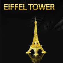 3D Metal Puzzles Eiffel Tower Kids Toys For Toddlers Jigsaw Puzzles Nano DIY Model Building Architecture Juguetes Educativos(China)