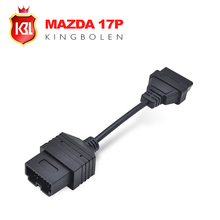Hot Sale for Mazda 17 Pin To OBD 2 OBD II Cable 16 Pin Connector Diagnostic Tool Adapter Extension Cable