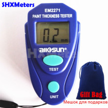 Digital Mini Car Paint Thickness Tester Paint Thickness Meter Auto Coating Thickness Gauge Instrument with Russian Instruction