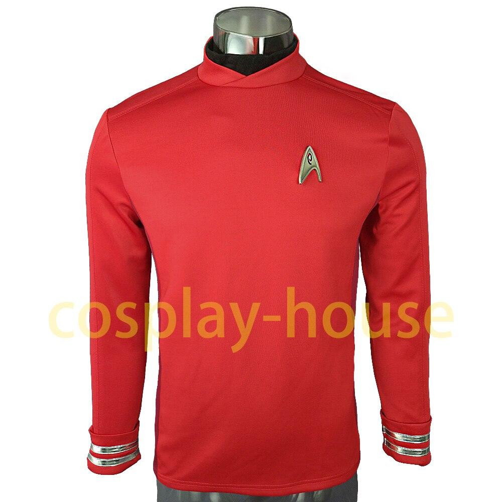 Cosplay Star Trek Costume Beyond Red Captain Kirk Uniform Spock Blue Uniform Scotty Red Halloween party Prop (2)