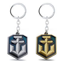 Jewelry World of Warships Game Logo Metal Keychains For Fans New Arrival Game Series Key Rings Llaveros Wholesale & Retail(China)