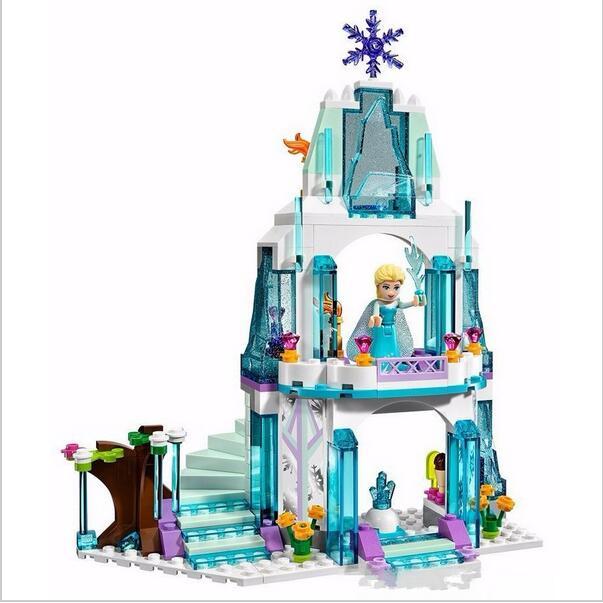 314pcs SY373 Elsas Sparkling Ice Castle Anna Olaf Princess Set Building Brick Block Figures Girls Toy<br><br>Aliexpress