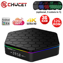 T95Z Plus 3G 32G Tv box Android 7.1 tv box Amlogic S912 Octa Core Dual WiFi 1000M Lan Smart IPTV 3D 4K Media player Set top box