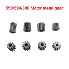 Children electric car motor metal gear,RC car 12V dc motor gear,kid's toy car engine gear 10 teeth 12 teeth gear for 550 motor(China)