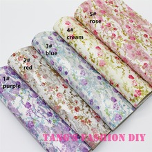 5pcs---20X22CM High Quality DIY small rose lace glitter leather/synthetic leather/diy fabric  can choose color
