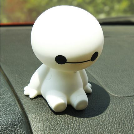 New car interior decoration large white head doll car interior decoration car spring base(China (Mainland))