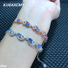KJJEAXCMY Fine jewelry Natural stone bracelet bracelet wholesale supply factory, 925 Sterling Silver Inlay(China)
