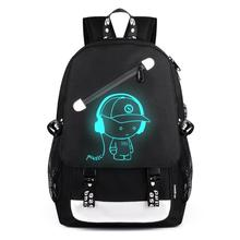 Student Backpack Cartoon Satchel USB External Charging Laptop Noctilucent School Bags Women Backpacks Men Rusksack Mochila(China)