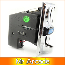 Multi coin selector acceptor for 5 different coins, support multi signal output 1 signal, arcade game machine part(China)