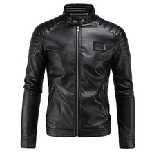 Buy Motorcycle Jacket PU Leather Men Vintage Retro Moto Faux Punk Leather Jackets Motorcycle Coats Slim Fit Stand Collar Size M-5XL for $52.20 in AliExpress store