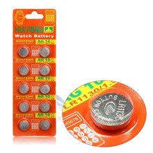 10pcs/lot AG10 LR1130 389 LR54 SR54 SR1130W 189 L1130 button Cell Coin Battery for watch,10pcs AG10 XINLU battery