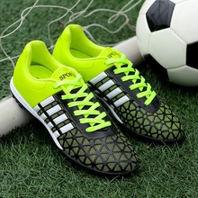 Mens Grass Soccer Shoes Green Mens Trainers  Junior Boys Football Boots Anti-Slip Training Shoes Men Soccer Sport Shoes