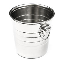 Stainless Steel 18x19cm Cubes Barrel Ice Container Barrel Bucket Home Bar Beer Wine Cooler Champagne