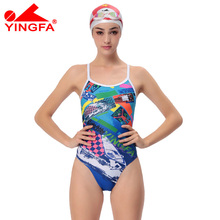 Yingfa 2017 NEW chlorine resistant women swimsuits Kids racing kids competitive swimsuit Girls training competition swim suit
