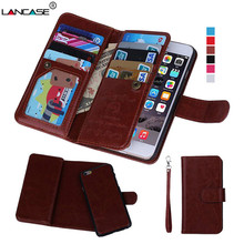 2 in 1 Combo Wallet Leather Flip Case For iPhone 5S Case Multifunction Card Slots Strap Hangbag Purse Coque for iPhone 5 6 6s(China)