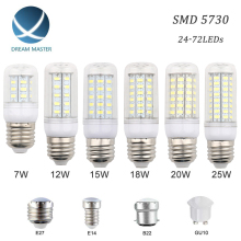 SMD 5730 LED Bulb E27 E14 B22 GU10 LED Light LED Lamp LED Lampada Ampoule 220V 12W 15W 18W 20W 25W Power Led Candle Light Home