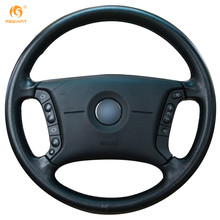 MEWANT Black Artificial Leather Car Steering Wheel Cover for BMW E46 318i 325i E39 E53 X5