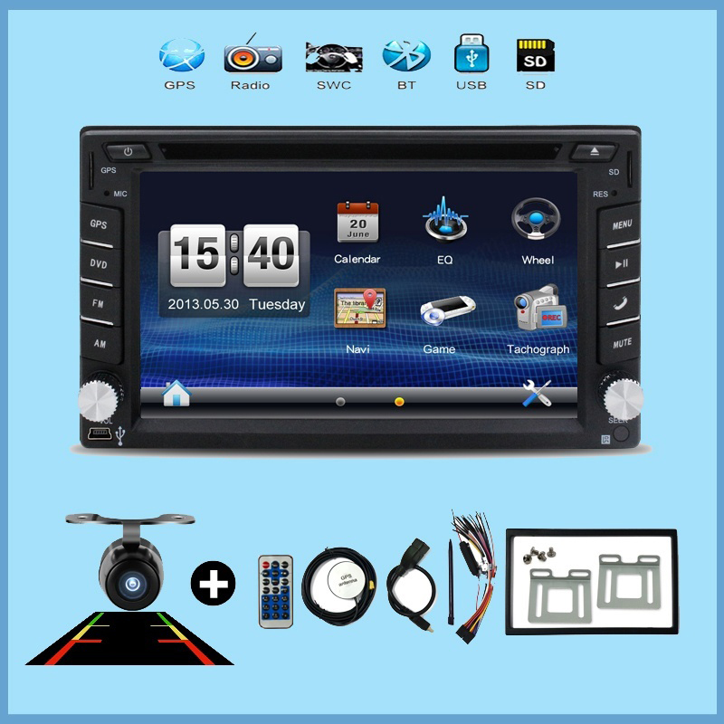 Car Video 2 din car dvd player universal monitor USB SD Audio GPS stereo in dash Bluetooth auto Parking monitor +Camera For VW(China (Mainland))