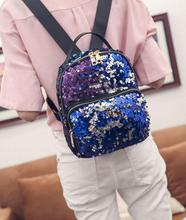 New Arrival Women Sequins Backpack School Student Backpack Travel/Cool Shoulder Bag Small Bling Backpacks 3 Colors Free Shipping
