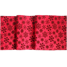 Free Shipping Christmas Flocking Snowflake Table Runner Manufactured Red Runners
