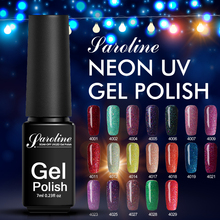 Saroline Soak Off UV LED Colorful Varnish 1pcs Semi Permanent Gelpolish Paiting Nail Art Neon Color Nail Gel Polish(China)