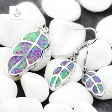 SHUNXUNZE Promotion Pink opal costly Time limited discount Silver Plated Recommend Vintage heart set (earring/pendant) R4090 set(China)