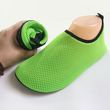 Water Sports Mesh Sandals for Woman Men Flat Wade Shoes Beach Swimming Shoes Summer Breathable Swim Slip Surf Shoes M-3XL