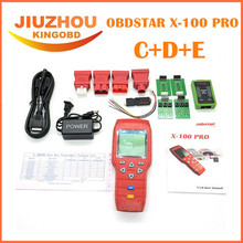 OBDSTAR X-100 PRO Auto Key Programmer (C+D+E) Type for IMMO+Odometer+OBD Software Get PIC and EEPROM Adapter Free Update Online