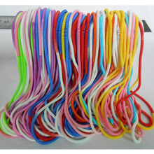 100pcs/lot New Fashion Candy Gradient Color Long Slim Thin Telephone Wire Hairband Hair Tie Bracelets For Girls Ladies