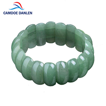 Buy 4 Design Green Aventurine Natural Stone Bangle Rose Rock Crystal Charms Bracelet Fashion Jewelry Women Men Lucky Gifts for $6.99 in AliExpress store
