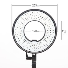 Falcon Eyes 300 LED Video Ring Light w/ Diffuser Dimmable LED Ring Wonderful Effect for Eyes Light Shadow Less DVR-300DVC(China)