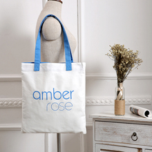 Custom Advertising Cotton Tote Bags with Screen printing Logo for promotional conference