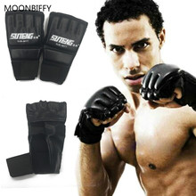 Buy 1 Pair PU Leather Boxing Gloves Sport Men Half Finger Muay Thai Gloves Mma Kick Boxing Training Boxing Mittens tactical Gloves for $4.35 in AliExpress store