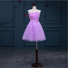 robe soiree mariage lavender dress sweet 16 girls pageant strapless cocktail dresses for teens special occasion short H3198