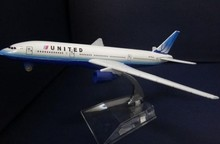 1:400 plane model B777 United Airlines aircraft B777 Metal simulation airplane model for kid toys Christmas gift