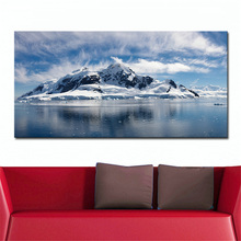 2016 Rushed Cuadros Frameless Sea Ocean Snow Island Clouds Sky Water Winter Modern Home Decor Painting Drawing Print On Canvas