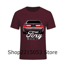 Foxy Body Ford Mustang T Shirt Men Short Sleeve Crewneck Cotton Plus Size Racer CAR Team TEE Shirts(China)
