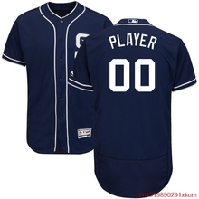 MLB Men's San Diego Padres Baseball Navy Alternate Flex Base Authentic Collection Custom Jersey(China)