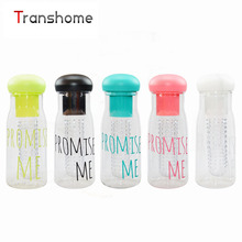 TRANSHOME My Candy Color Fruit Infuser Water Bottle Korea Style Promise Me Plastic Lemon Juice Cup Leak Proof Bpa Free Bottles
