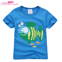 Mom's care Casual Childrens T shirt 100% Cotton Short Sleeves Infant Baby Boys Shirts Tops Tees Pullover Kids Clothes for Summer