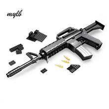 mylb Learning & Education Ausini Blocks Guns Model Building Toys 524 Pcs Bricks Gun Series M16 / Classic Toys for boy gift