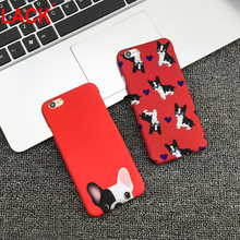 Newest Fashion For iphone 6 Case Cute Cartoon Pocket Dogs Phone Cases Back Cover For Apple iphone 6S 6plus 5 5S Red color Dog