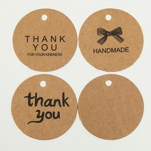 Buy 100pcs Kraft Paper Tags Handmade Thank Head Label Luggage DIY Christmas Wedding Party Accessories Hang Tag Kraft Gifts for $1.97 in AliExpress store