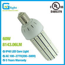 E39 mogul base 60W LED bulb lights retrofit HID 250W street light canopy fixture outdoor lighting AC100~277V