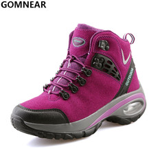 GOMNEAR New Product Womne's Hiking Shoes Popular Outdoor Tourism Mountain Hiking Boots Antiskid Hunting Camping Athletic Shoes(China)