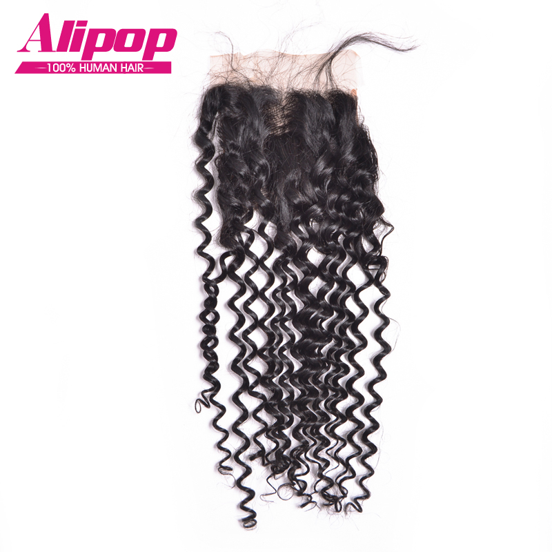 7A Virgin malaysian curly closure  human hair closure  unprocessed water wave virgin malaysian curly hair closure no shedding<br><br>Aliexpress