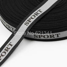 (10 meters/lot) Sport Logo 20mm*10mm Reflective Fabric Strip Edging Braid Tape Reflective Webbing Sewing