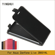 For Asus Zenfone Live ZB501KL Case Fashion Flip PU Leather Phone Case For Asus Zenfone Live ZB501KL Cell Phone Cases
